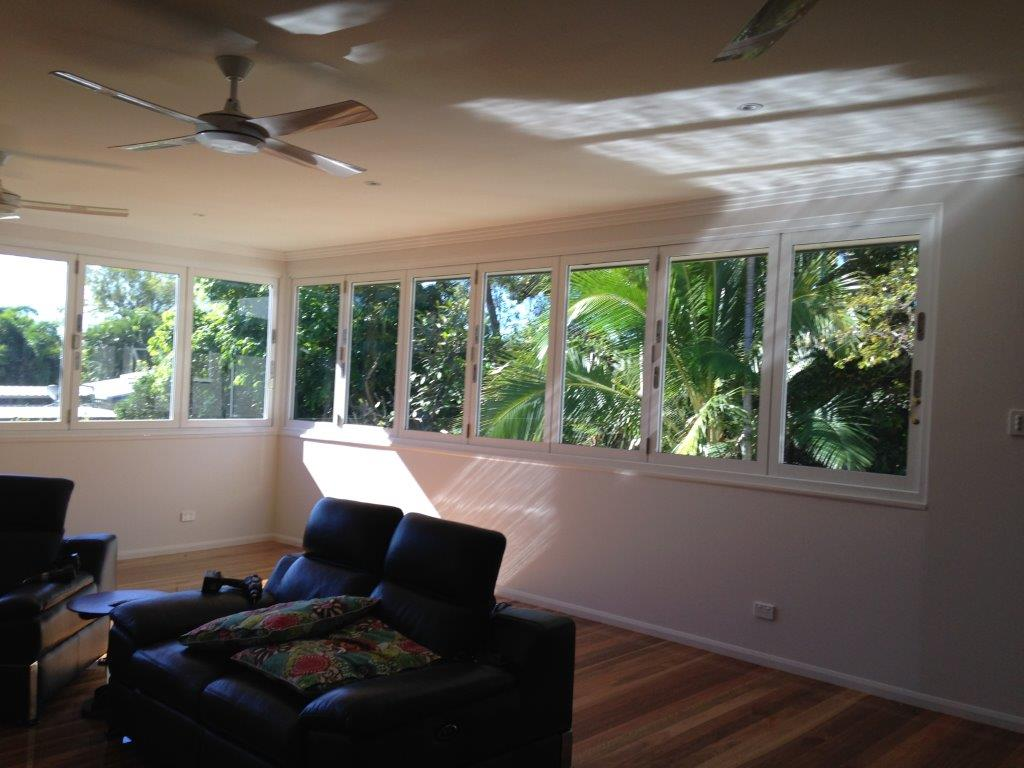 Bifold windows open up the whole room