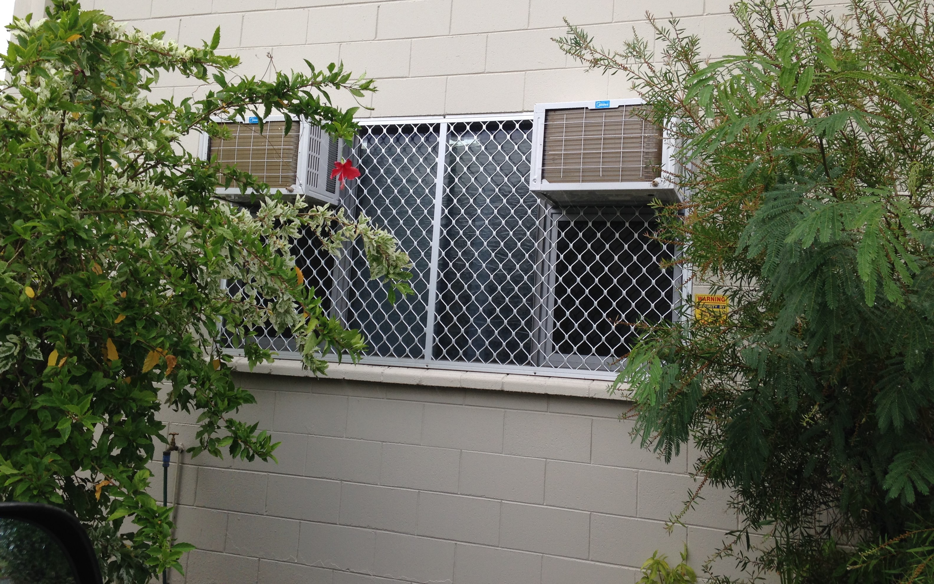 Custom Barrier Screen To Suit Window With A/C's